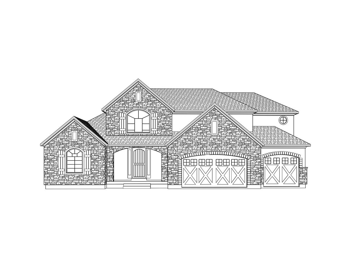 Alexandria-2 Story French Country style house plan - Walker Home ...