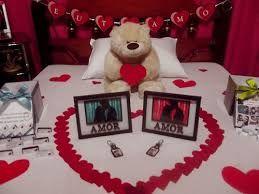 fb7f937391139a Resultado de imagem para surpresa para namorado no quarto com velas ...
