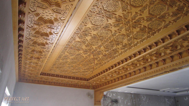 faux plafond en bois marocain  Googleda Ara  tavan  ~ Faux Plafond En Bois