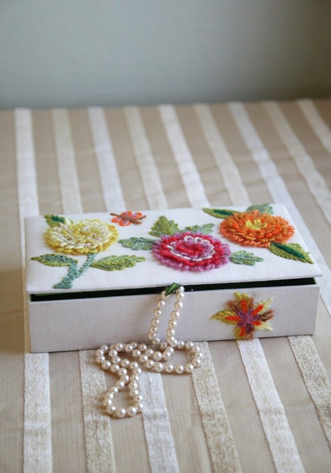 Delightful Days Embroidered Jewelry Box 4899 at shopruchecom This