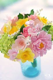 Image result for pink daffodil bouquet