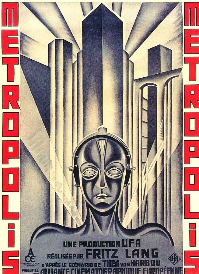 Metropolis 30x44 Hand Numbered Edition Beautiful Art Deco Movie Poster Print