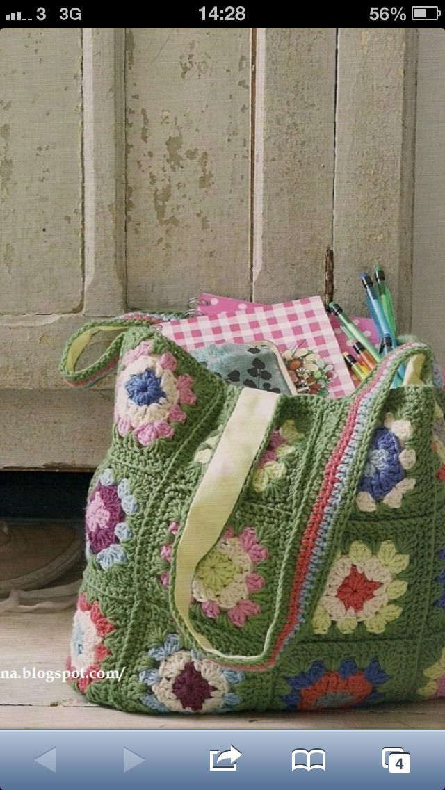 Granny Square Crochet Bag | Crocheted Bags | Pinterest ...