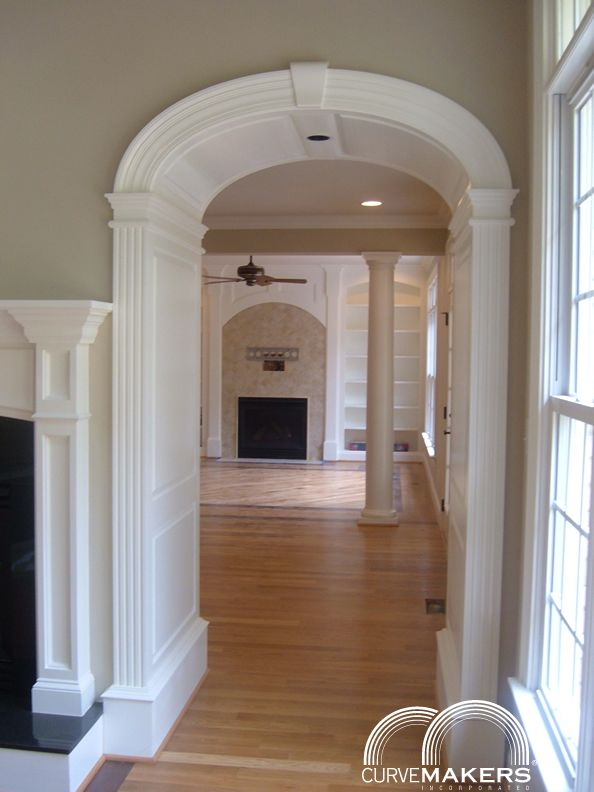 Curvemakers Gallery Curvemakers Patented Arch Kits Wood Arches D I Y Arched Doorways And Openings Interior Archways Diy Arches Moldings Trim Wood Arch Interior Trim