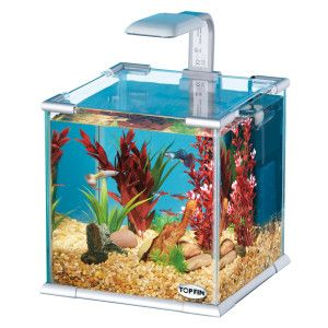 Top Fin® Glass Aquarium w/ LED Light & Internal Filter