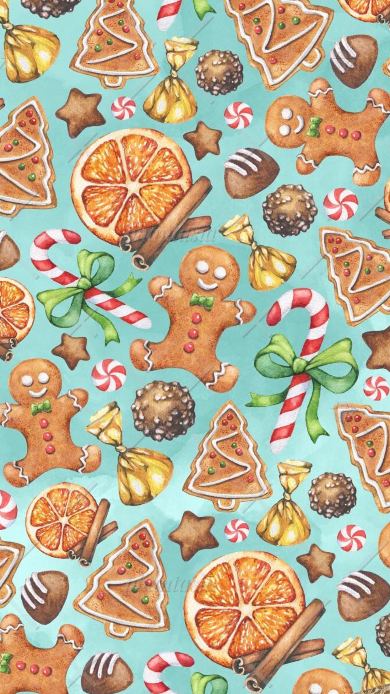 Gingerbread Wallpaper. Winter wallpaper, Christmas