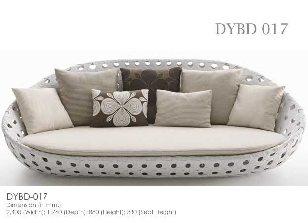 Synthetic Rattan Wicker Daybed   LEOLA FURNITURE Outdoor Furniture  Manufacturer From Bali, Indonesia