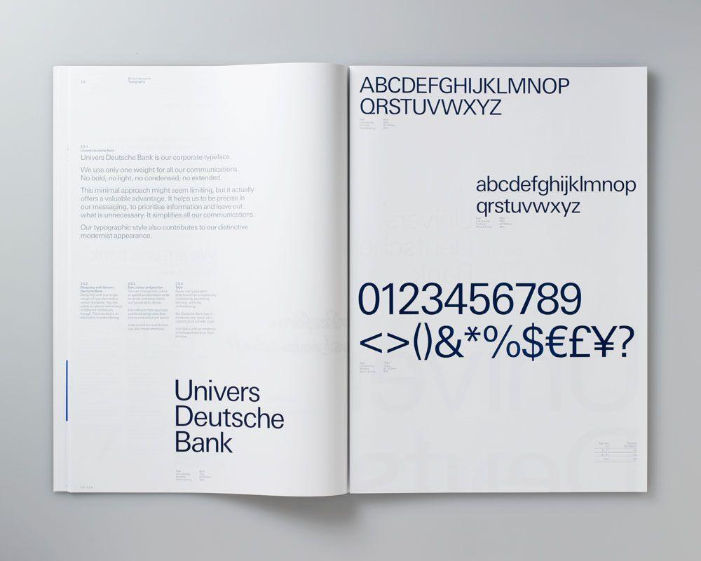 Deutsche Bank Brand guidelines Corporate Typography