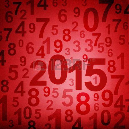 Año Nuevos 2015, fondo rojo formado de números. Foto de archivo.