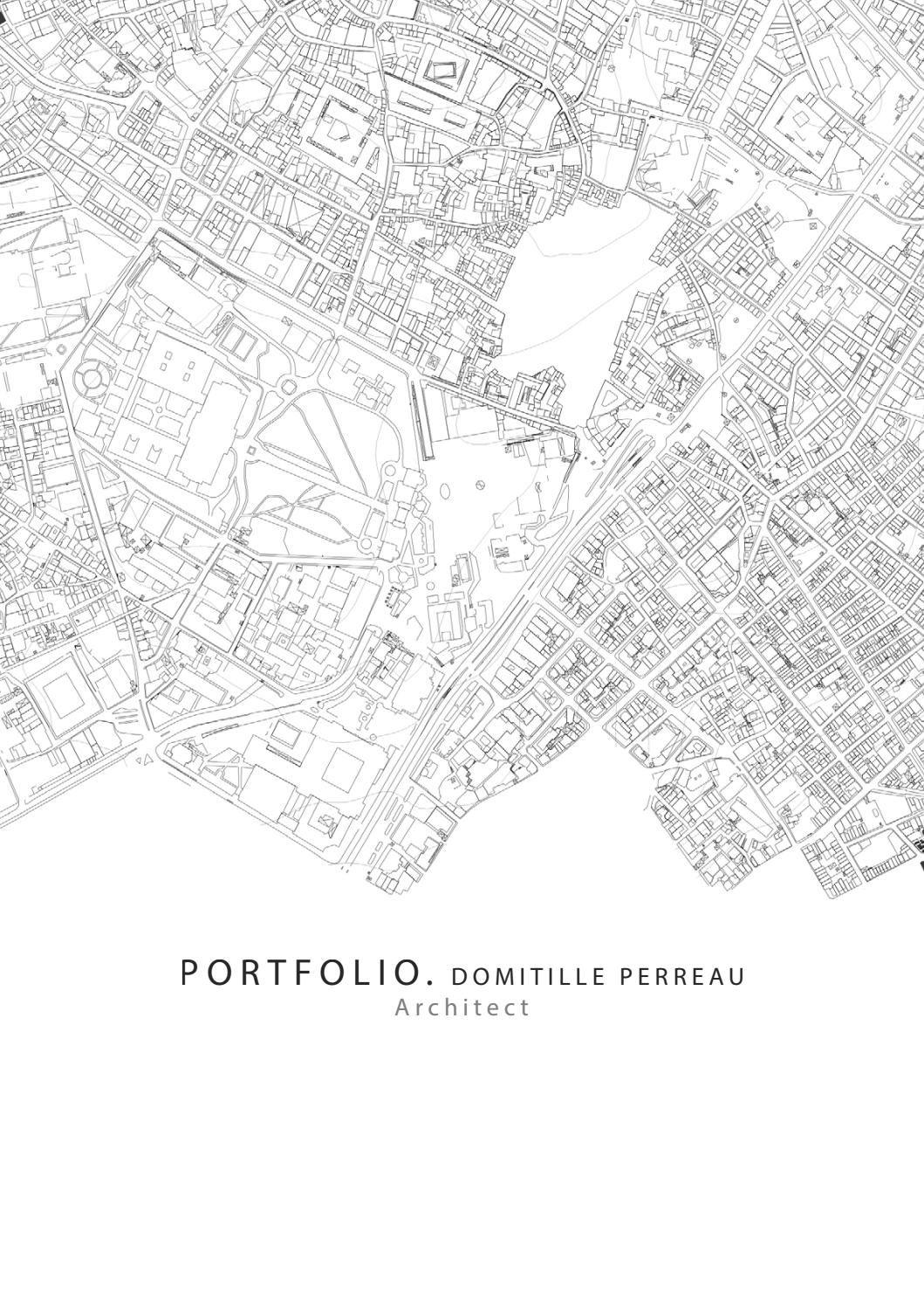 Portfolio Architect Domitille Perreau Portfolio Architect Architect Design House Architect