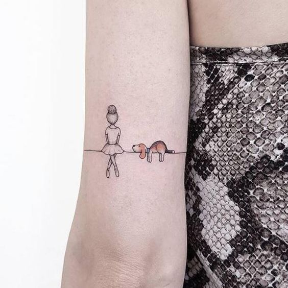 30 cute small & simple dog tattoo ideas for women animal lovers