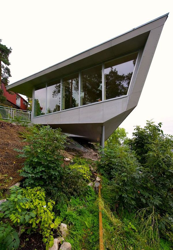 Cliff Home Plan Edgy In Norway Cliff House Modern