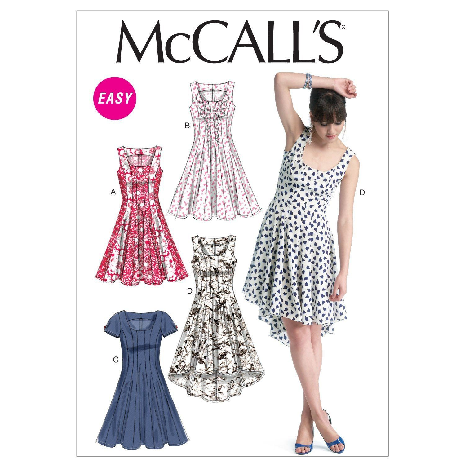 Mccalls pattern m6504 womens misses semifitted and