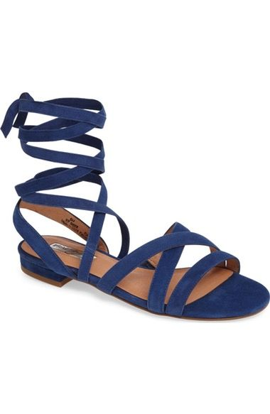 Halogen® Frances Ankle Wrap Sandal (Women) available at #Nordstrom