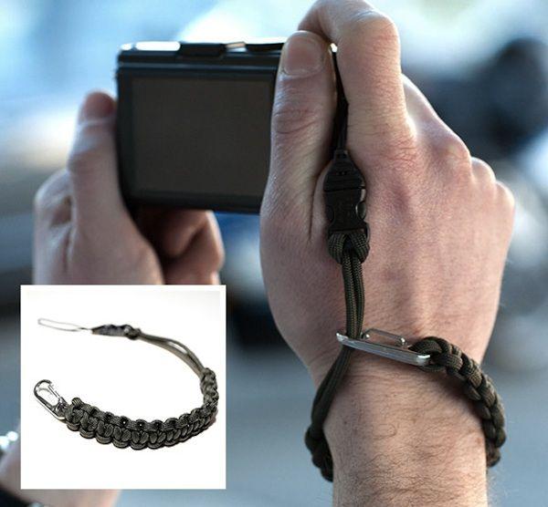 Braided Paracord Camera Wrist Strap Flashlight Binocular Anti-lost Lanyard