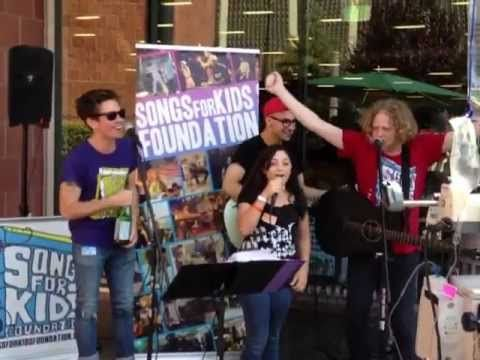 The band FUN joined the hospital's resident music group, Songs for Kids Foundation, to play some tunes and lift spirits!
