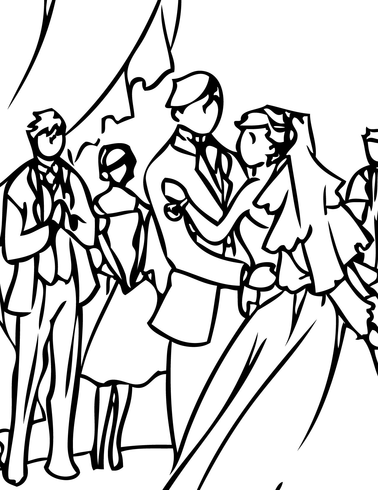 Coloring book wedding pictures - Print And Color A Wedding Reception Coloring Book With Your Kids
