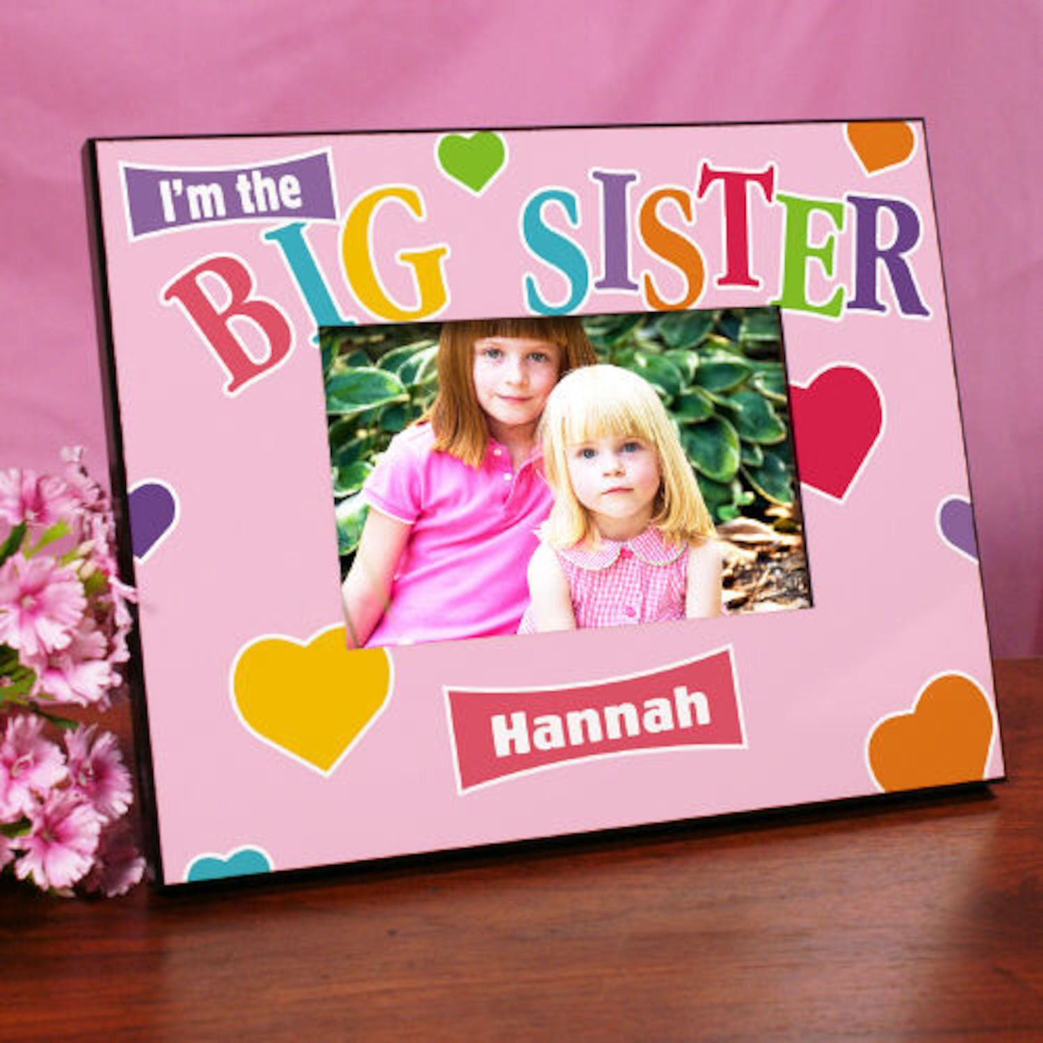 Personalized Big Sister Heart Printed Frame | Products | Pinterest ...