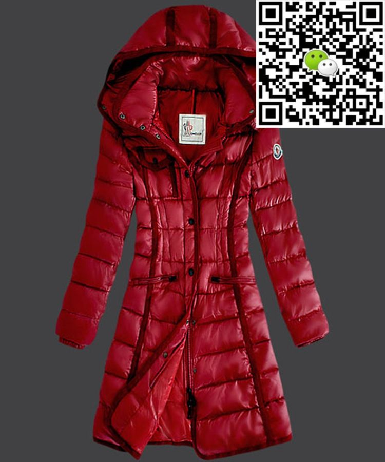 Moncler Hermine Down Coats Womens Windproof Red