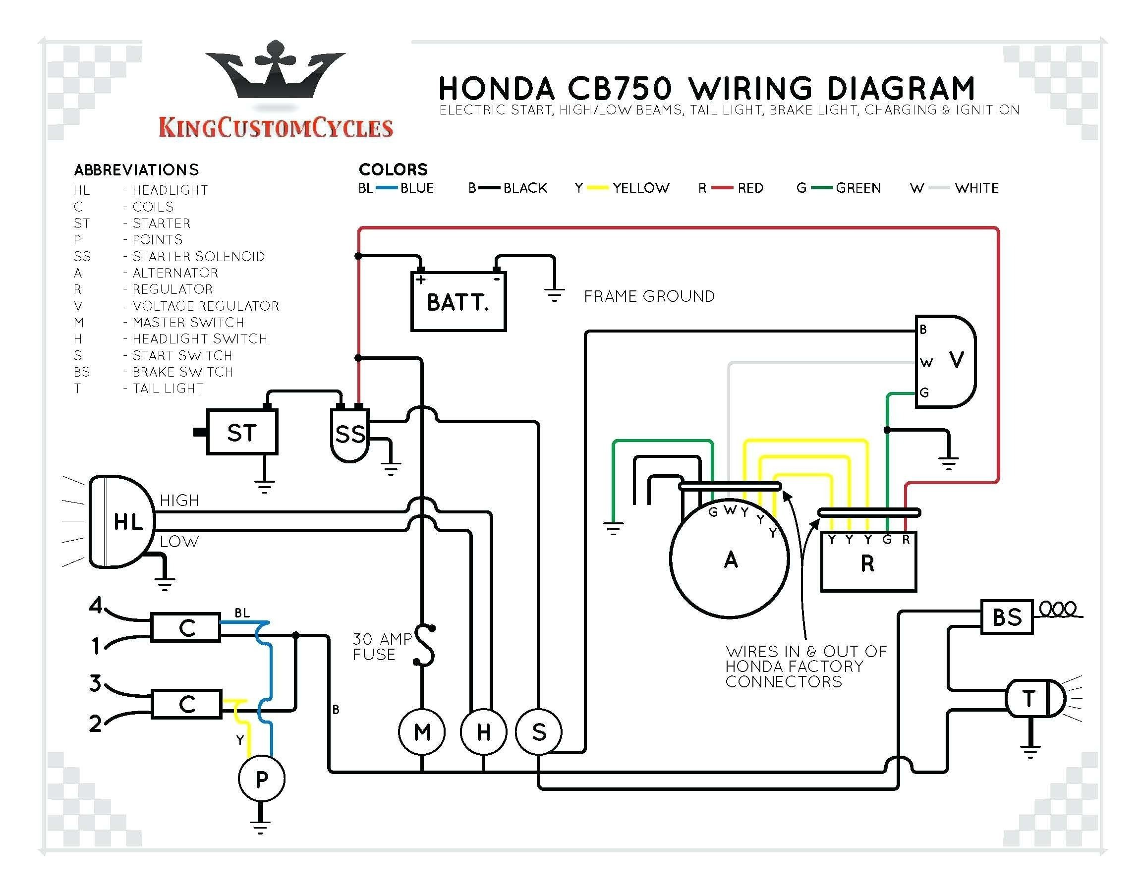 Push Button Starter Switch Wiring Diagram Elegant In 2020 Diagram Cb750 Honda Cb750