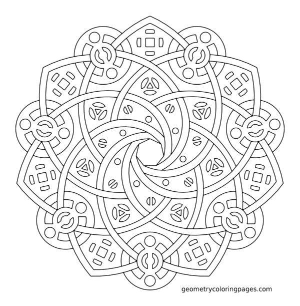 190 Mandalas para Colorear para niños | Mandalas | patrones de ...
