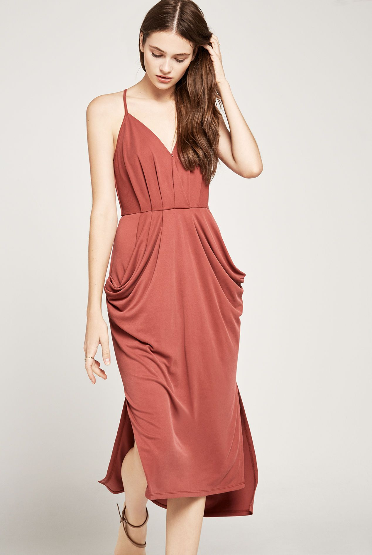 Sleeveless Surplice Midi Dress Ruby Wine 54 60 Dresses Midi Dress Sleeveless Midi Dress [ 1891 x 1268 Pixel ]
