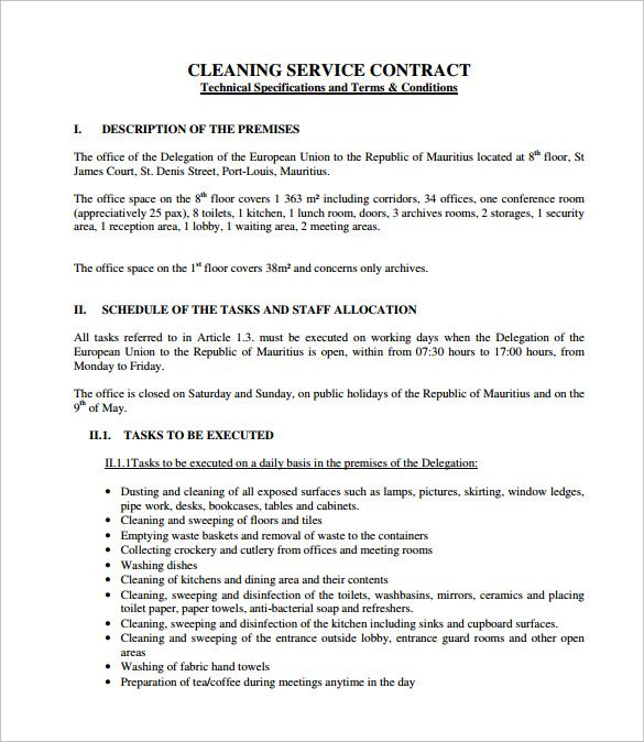 Pin by SYNSATIONAL on CLEANING BUSINESS | Cleaning contracts, Sample