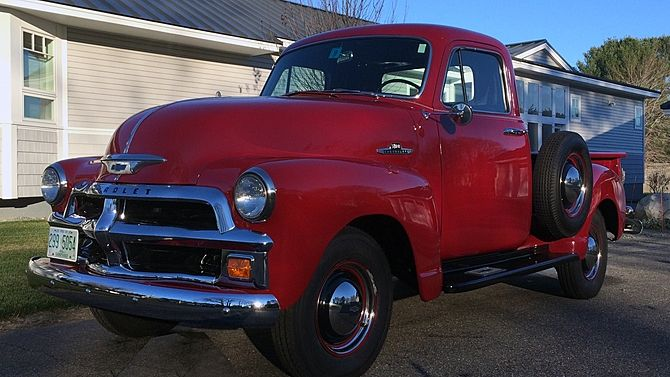 1955 Chevrolet 3100 Pickup 235 Ci 3 Speed Presented As Lot T46 At