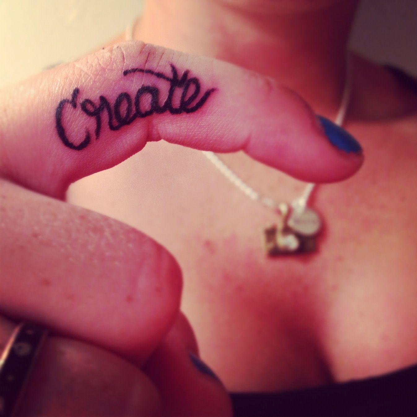 Create finger tattoo | Tattoos | Pinterest | Tattoo