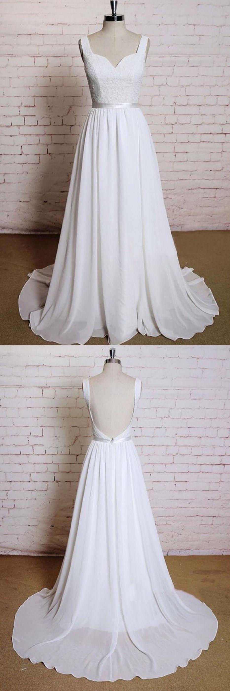 Simple a line chiffon wedding dresses wd dreaming wedding