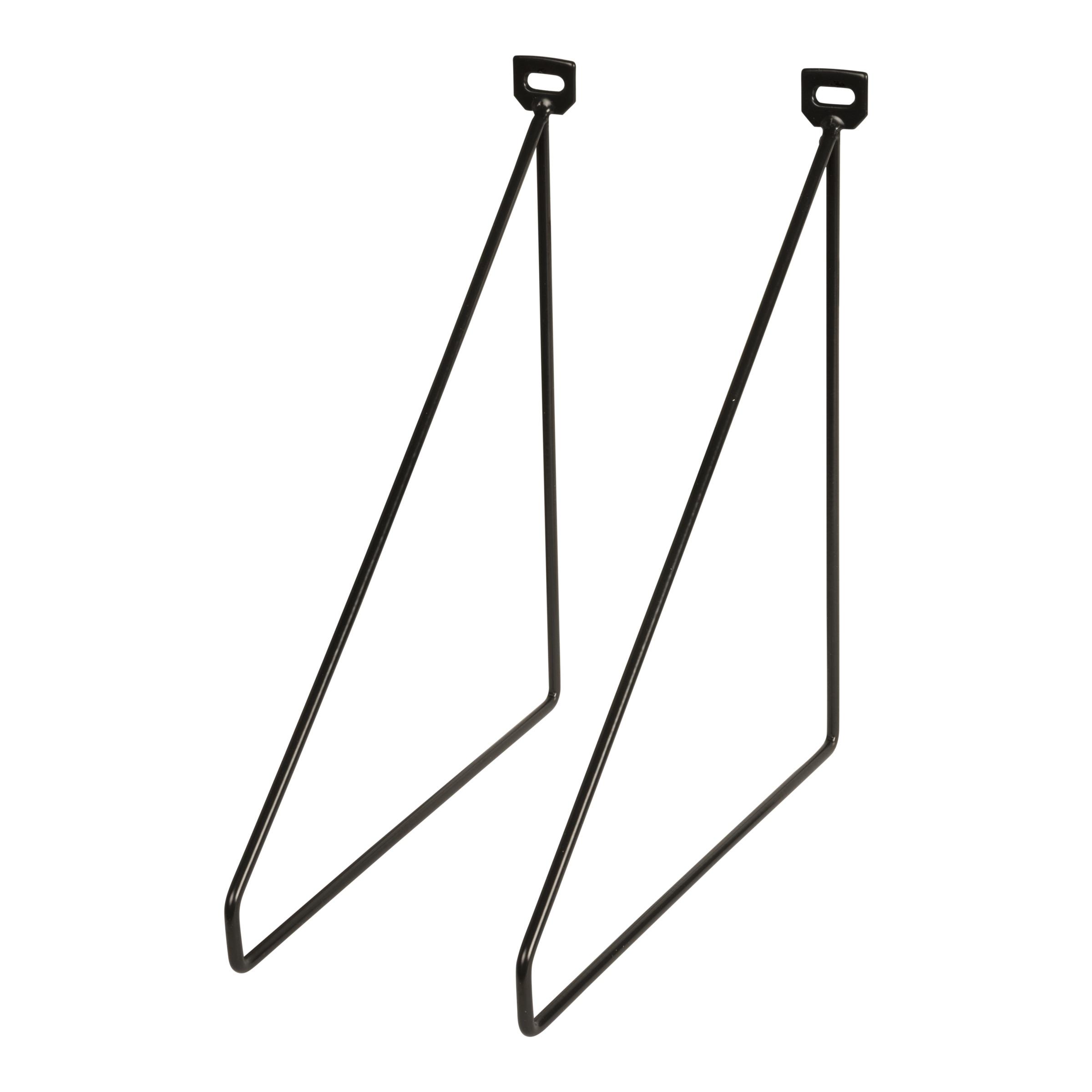 Duraline Wandplank Karwei.Duraline Plankdrager Metaal Zwart 2 Stuks Kitchen Wardrobe Rack