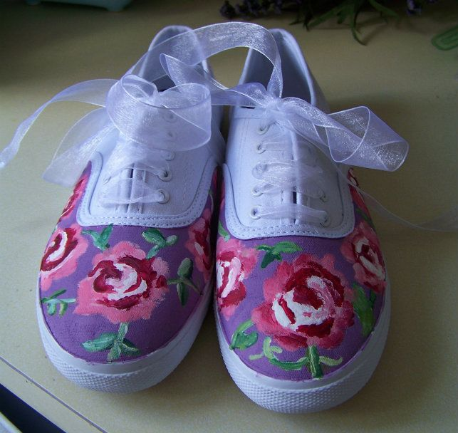 Do it yourself canvases floral and crafty diy floral canvas shoes dormify solutioingenieria Gallery