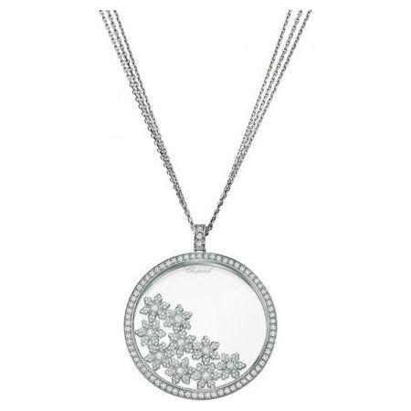 """Argent Sterling 925 Cluster Collier Pendentif avec 1 ct Labo Diamants//18/"""""""