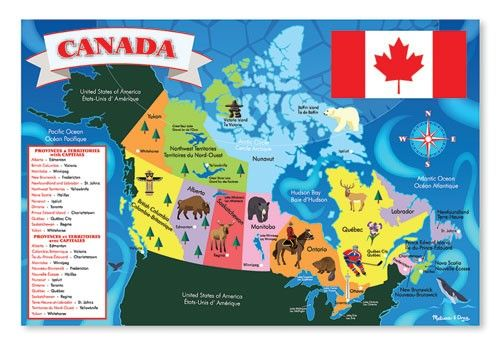 Canada map floor puzzle 1375 httpqualityclassrooms melissa doug canada map jumbo jigsaw floor puzzle pcs 2 x 3 feet in floor puzzles gumiabroncs Images