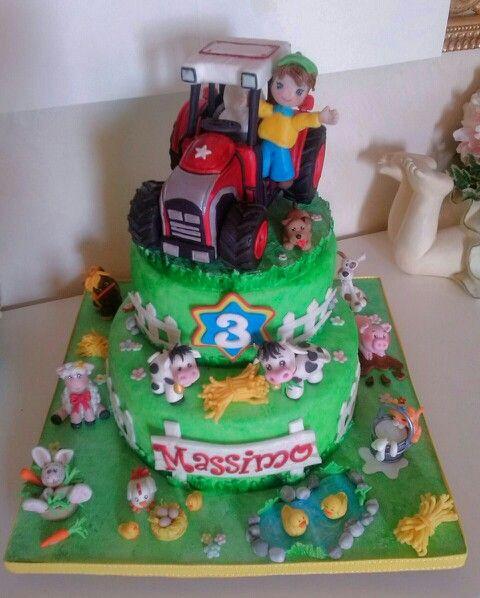 Farm tractor cake torta fattoria con trattore torta for Aprire piani di fattoria