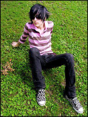Emo guys wearing skinny jeans