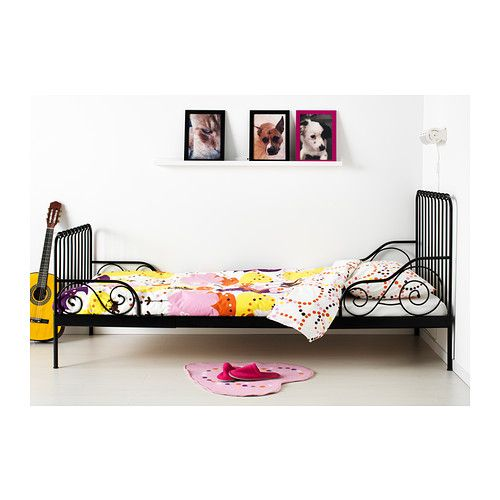 Minnen Ext Bed Frame With Slatted Bed Base Ikea Cute Kids