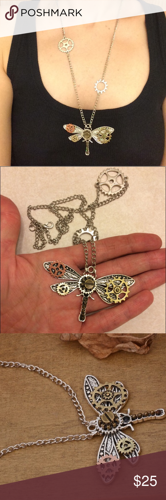 NEW Necklace Steampunk Butterfly Gears Jewelry NEW Necklace! Steampunk chic a long mechanical gears