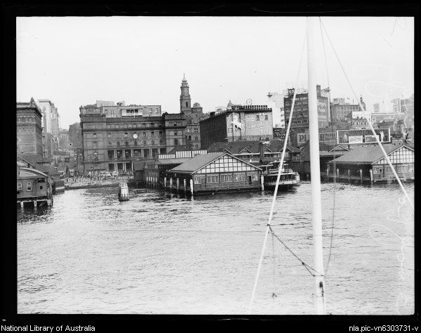 Circular Quay from Manly ferry, Sydney in 17 August 1929 ...