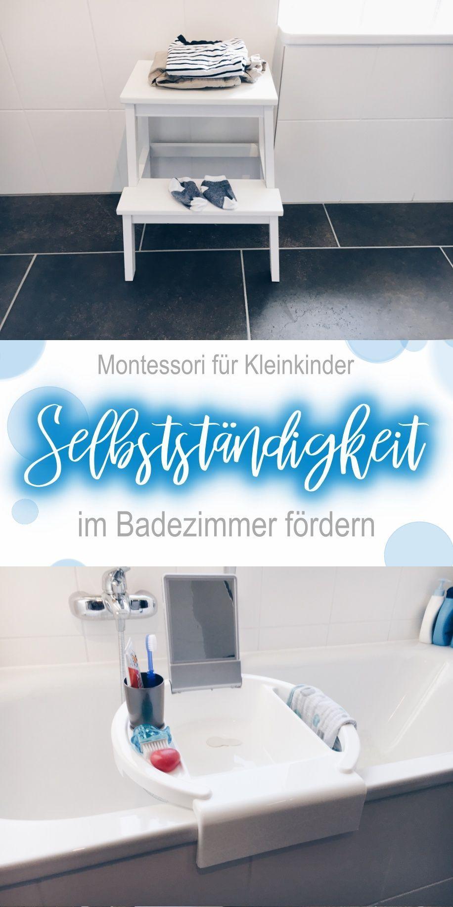 Die Vorbereitete Umgebung Kleinkindern Viel Selbststandigkeit Im Badezimmer Ermoglichen Baby Badezimmer Kinder Und Entwicklung Baby