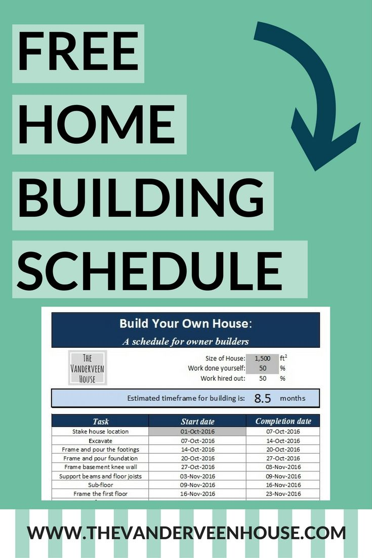 House Construction Schedule For Owner Builders  Construction