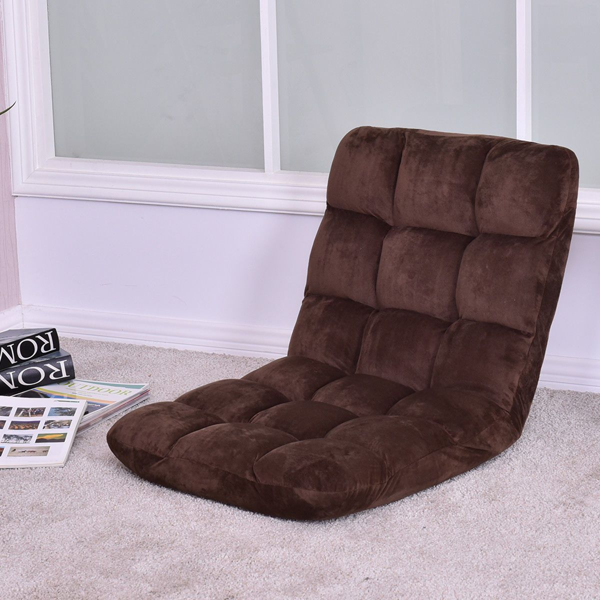 Folding 5 Positon Adjustable Recliner Cushioned Floor