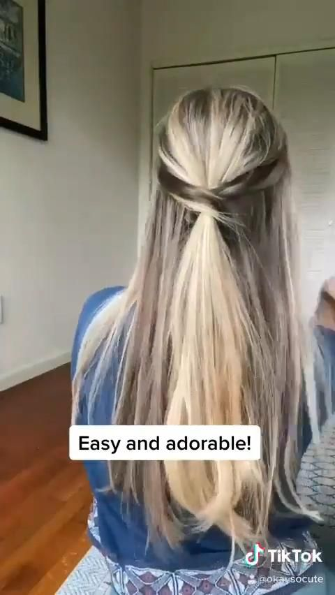 Half-up Twist Hairstyle