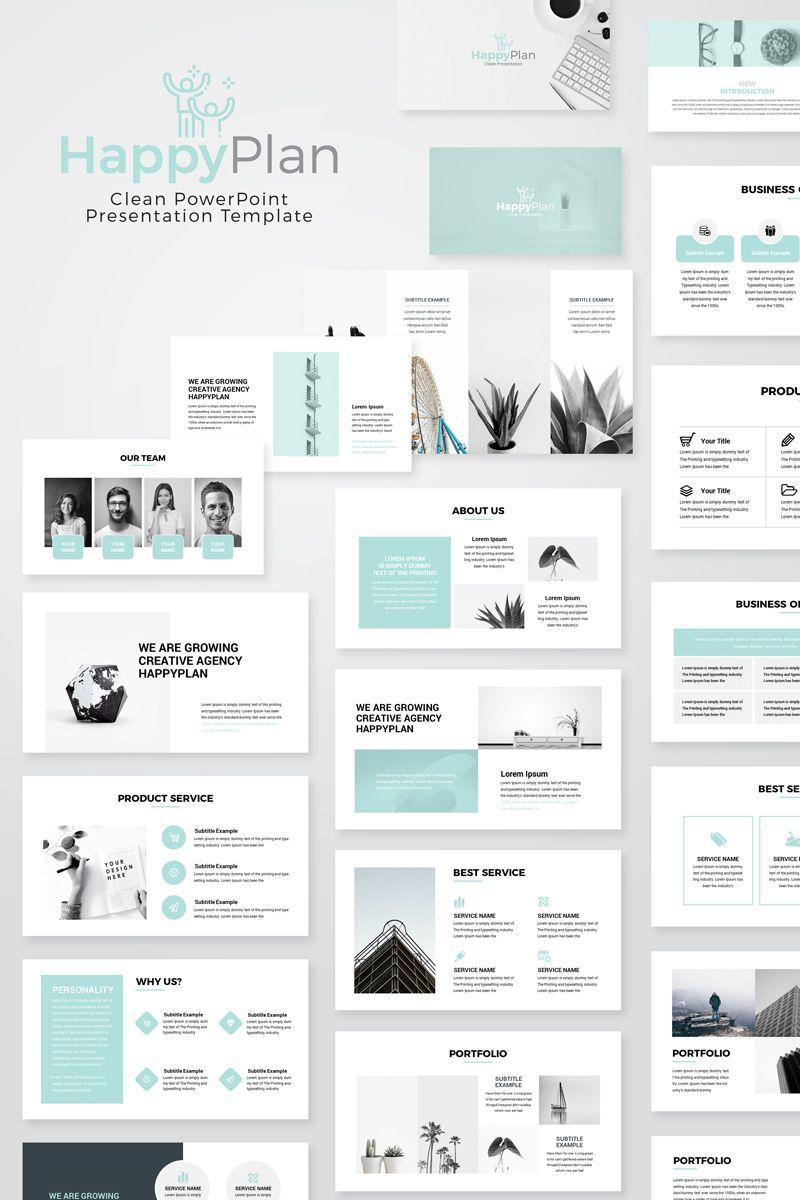 Happyplan Minimal Presentation Powerpoint Template Powerpoint Template Flyer Design Template Presentasi