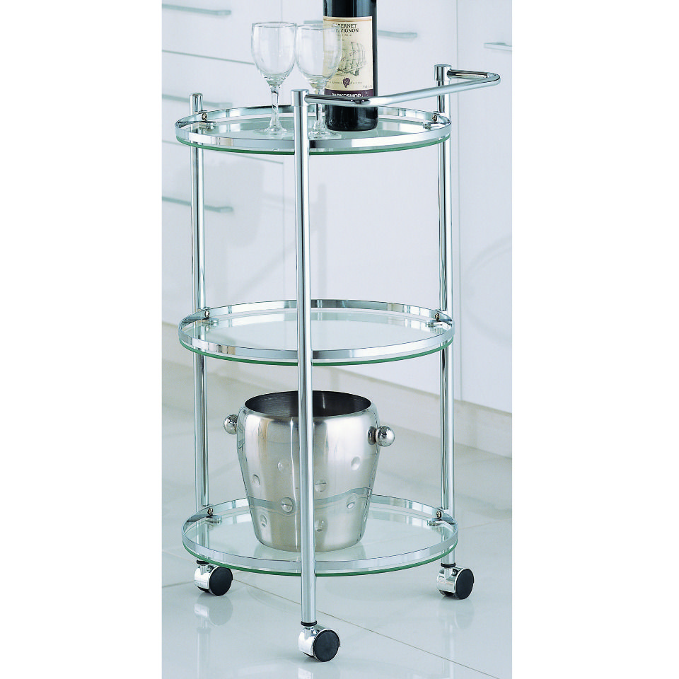 30 Circular Serving Cart in Silver and Clear | Hostess With the ...