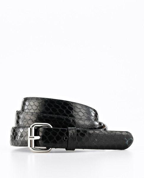 Ann Taylor - AT Handbags Belts - Exotic Leather Skinny Belt