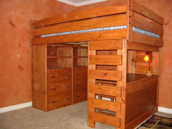 Loft Bed With Dresser And Desk Underneath Lakberendezes