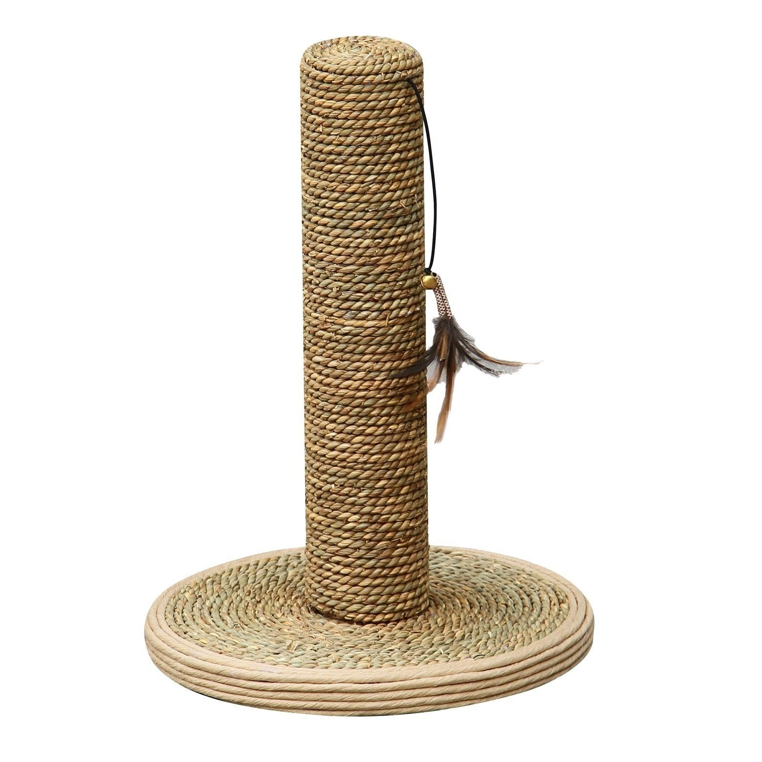 PetPals Seagrass Cat Scratching Post Natural Tan