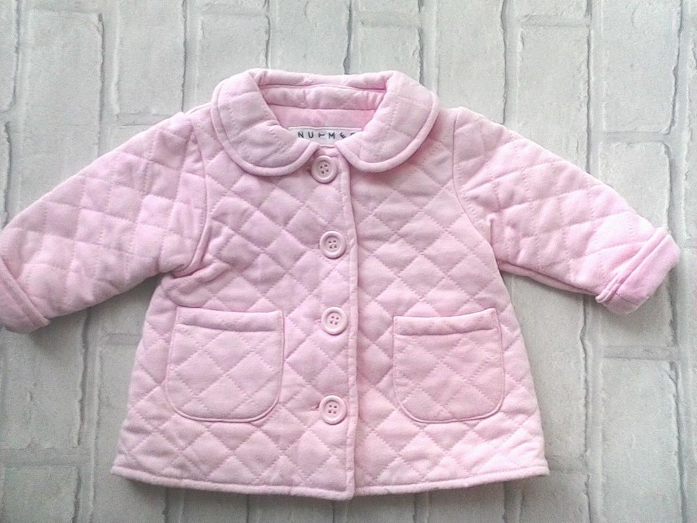 e5cf756e2fb9 Baby Girls Pink Pram Jacket coat Size 3-6 Months Nutmeg  Nutmeg ...