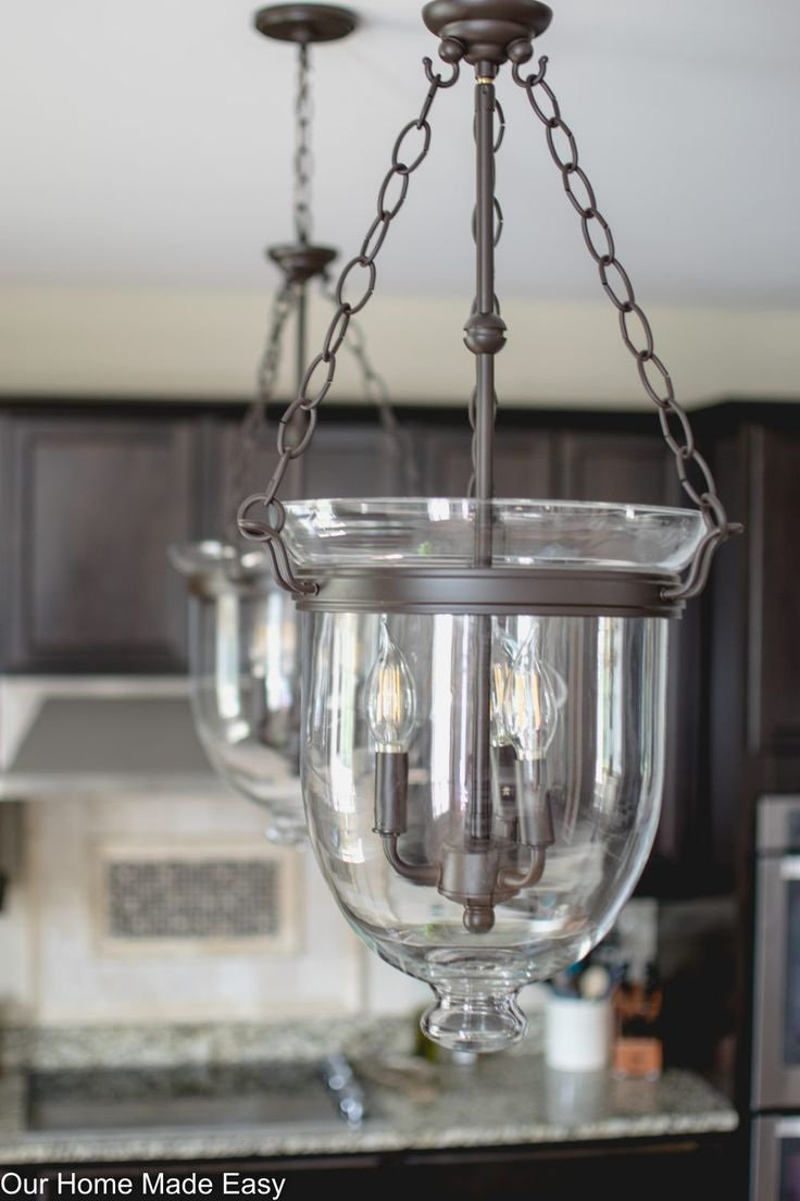 updated kitchen island pendant lighting diy home decor kitchenthis is a cheaper version of the pottery barn hundi it\u0027s perfect for a kitchen island pendant see the before \u0026 after pictures here!